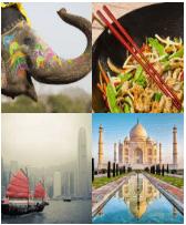 4 Immagini 1 Parola 4 Lettere ASIA