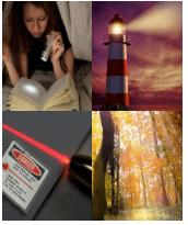 4 Immagini 1 Parola 4 Lettere LUCE