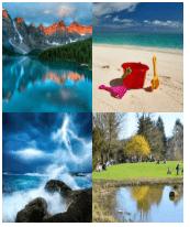 4 Immagini 1 Parola 4 Lettere RIVA