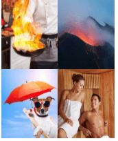 4 Immagini 1 Parola 5 Lettere CALDO