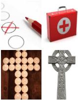 4 Immagini 1 Parola 5 Lettere CROCE
