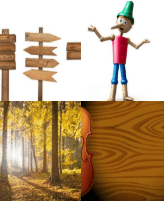 4 Immagini 1 Parola 5 Lettere LEGNO