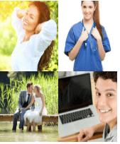 4 Immagini 1 Parola 6 Lettere FELICE