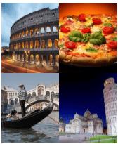 4 Immagini 1 Parola 6 Lettere ITALIA