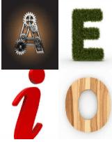 4 Immagini 1 Parola 6 Lettere VOCALI