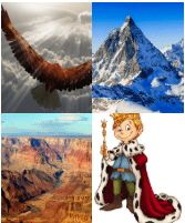 4 Immagini 1 Parola 8 Lettere MAESTOSO