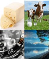 4 Immagini 1 Parola 8 Lettere SVIZZERO
