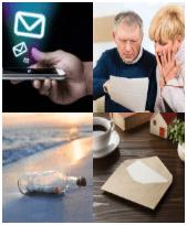 4 Immagini 1 Parola 9 Lettere MESSAGGIO